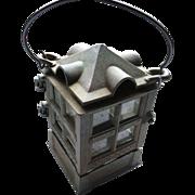 SOLD 1988 John Wright Iron Candle Lantern