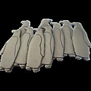1988 JJ Pewter Penguin Brooch