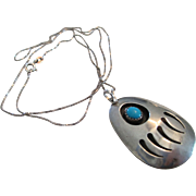Bear Claw-925 Silver-Turquoise Pendant/Necklace