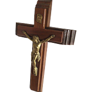 Vintage Rosewood /Metal Crucifix/Mass Cross