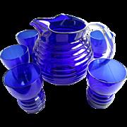 Cobalt Blue/ 7 Piece Water Set