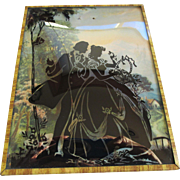 Vintage Silhouette-Country Walk- on Curved Glass
