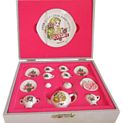 1959-1984 25th Anniversary  Barbie China Tea Set (Dishes)