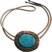 Bell Trading Co Turquoise/Copper Bolo Tie