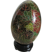 Vintage  Cloisonne Egg with Stand
