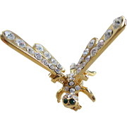 Dragonfly /Goldtone and Rhinestones