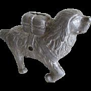 Vintage Cast Aluminum Dog Bank