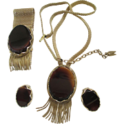 1960 Whiting & Davis Parure:Bracelet,Earrings,and Necklace
