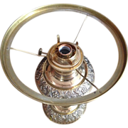 Unusual Bradley & Hubbard Oil Lamp Converted to Electric