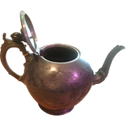 Shaw & Fisher Sheffield Pewter Antique Teapot 1525 Several Dents As Shown In Pictures 7 ..