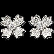 Estate Tiffany & Co. .70ct t.w. Diamond Floret Snowflake Stud Earrings Platinum  Ask a Questio
