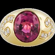 Outstanding 7.76ct t.w. Kurt Wayne Estate Designer Pink Tourmaline & Diamond Cocktail Ring