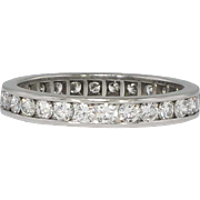 Twinkling 1.10ct t.w. Retro Era Round Diamond Eternity Wedding Band Size 5.5 ...