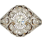 Rare Russian Antique 1.41ct t.w. 1900's Lacey Old European Cut Diamond Ring ...