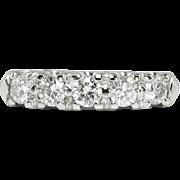 Vintage 1950's .90ct t.w. Diamond Wedding Stacking Band Ring 14k