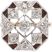 Art Deco 1930's .66ct t.w. Old European Cut Diamond Two Tone Anniversary Cocktail ...