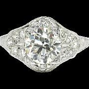 Vintage Art Deco 1930's EGL Certified 2.49ct t.w. Old European Cut Diamond ...