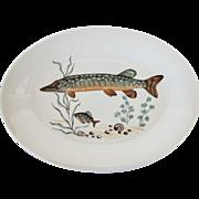 Mid-Century Fish Platter, Poland