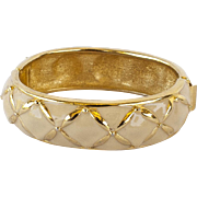 Joan Rivers Creamy White Enamel Bracelet