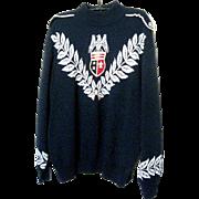 St. John Sweater/Eagle Emblem-Navy, Sz.12-14