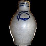 French / German (Alsace) stoneware Betschdorf antique pitcher