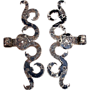 SOLD Pair of antique wrought iron hinges 18th Century