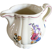 Vintage Sarreguemines faience milk pitcher