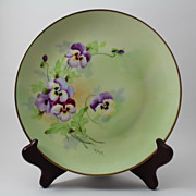 Pansy Plate Pickard Hand Painted Signed Tolley Bavarian Porcelain