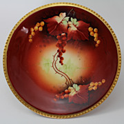 Autumn Currants Dessert Plate Pickard Artist Hand Painted Signed Wagner Limoges Porcelain