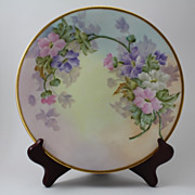 Anemones Plate Hand Painted Signed Gripp Jean Pouyat Limoges Porcelain