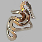 Modernist Sterling Silver Size 6 c1970