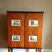 REDUCED Neoclassical mid-1940's Bar Cabinet in Rosewood