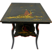 REDUCED Hand painted Accent or lamp table