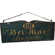 Bel-Mar Apartments Advertising Sign