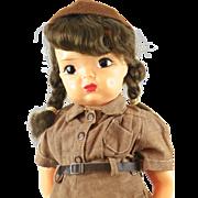 Vintage Terri Lee Hard Plastic Brownie Girl Scout Doll