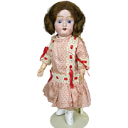 """Adorable 12"""" Antique Bisque Head Doll with Ball Jointed Composition Body"""
