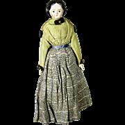"""SALE A/O Antique 11"""" German Papier-Mache Milliner's Model Doll"""