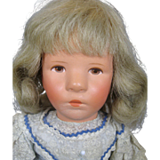 Vintage Kathe Kruse US Zone Cloth Doll 1950s ~ Doll IX Little German Child