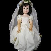 1950's Madame Alexander Wendy Hard Plastic Bride Doll, A/O
