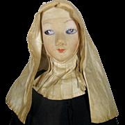 SOLD Antique Nun Boudoir Cloth Doll 1920s