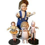All Bisque Germany Dolls ~ Flappers, Googly Eye and Chunky All Bisque Doll