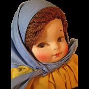 SOLD Georgene Averill Cloth Doll ~ Czecho-slovakia #5089