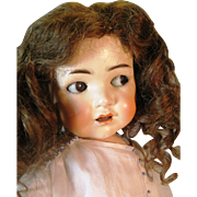 SOLD Simon Halbig Arranbee Composition Flirty Eye BJB Doll Patent No 74720  Germany