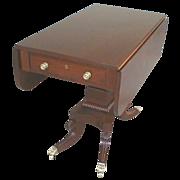 Regency Style Mahogany drop Leaf Table