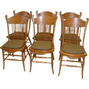 REDUCED Oak Dining Chairs Set of 6