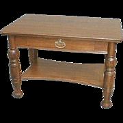 SALE 19th Century Oak Library Table or Desk