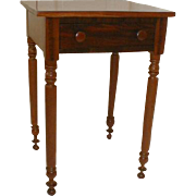 SOLD Primitive Cherry Stand with Drawer