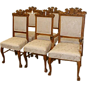 Oak Dining Chairs Set of 6 New Upholstery