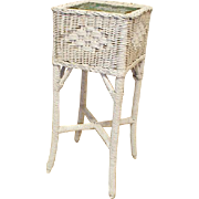 Wicker Planter with Metal Liner