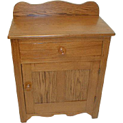 REDUCED Oak Wash Stand Primitive Made About 1860
